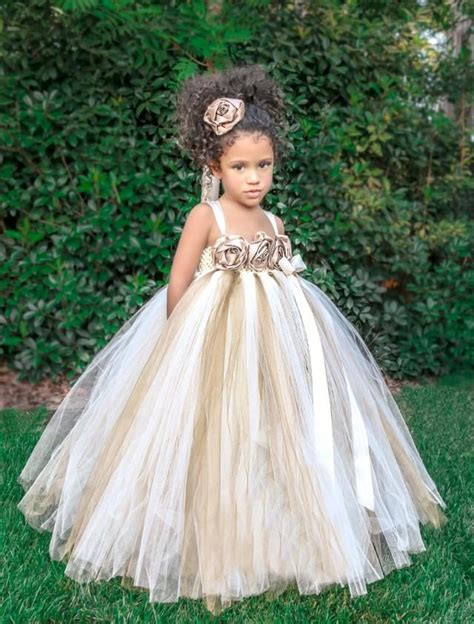 Baby Wine Tutu Dres ivory gold chagne flower dress ivory flower