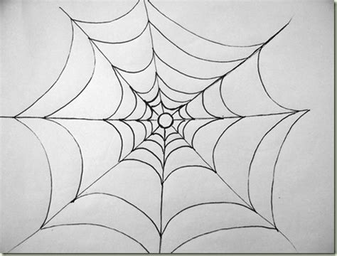 drawing web simple spiderweb just paint it