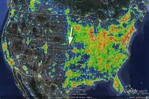 light pollution map by shannon ramos findery