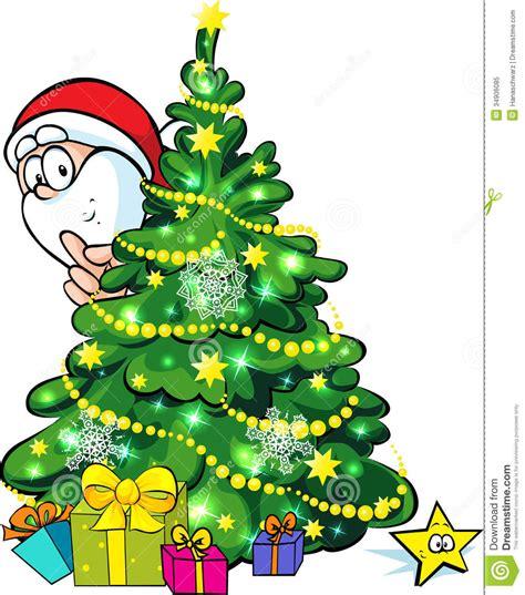 santa claus y 225 rbol de navidad ilustraci 243 n del vector