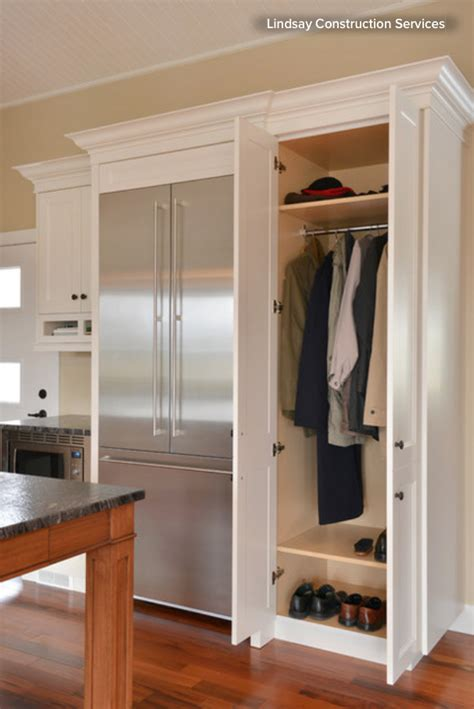 kitchen in a closet how to tap your hall closet s storage potential bergdahl