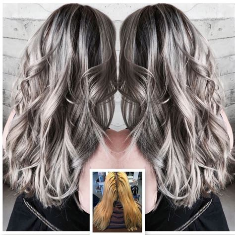 different ways to put blomde highlights in hair with one side shaved how to blonde to edgy silver career silver hair grey