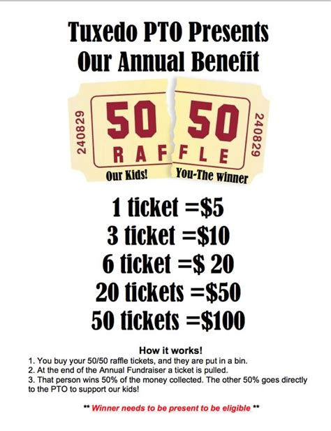 50 50 raffle fundraiser flyer hla pinterest posts