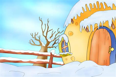 imagenes infantiles invierno paisaje infantil invierno