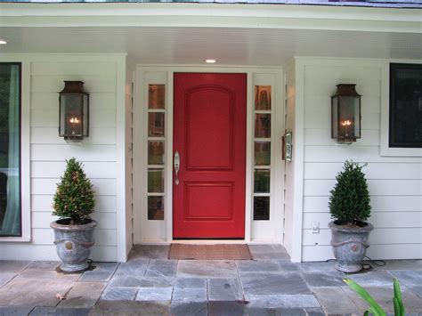 Front Doors For Home Red Front Door And Bold House Exterior Traba Homes