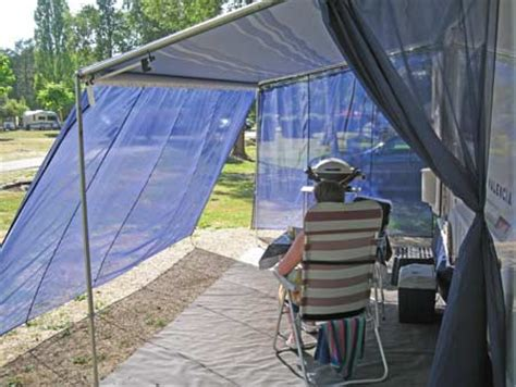 Wind Out Caravan Awnings by Wind Blockers Turn Your Wind Out Canopy Into An Awning