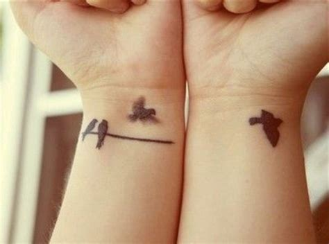 tattoo of birds flying away flying bird birds