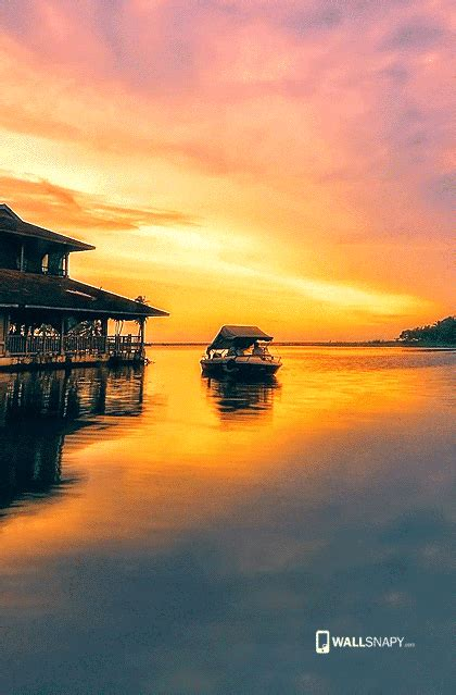 boat house wallpaper sun set with boat house hd wallpaper primium mobile