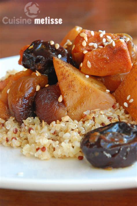 cuisine metisse tajine de l 233 gumes d hiver et fruits secs potiron