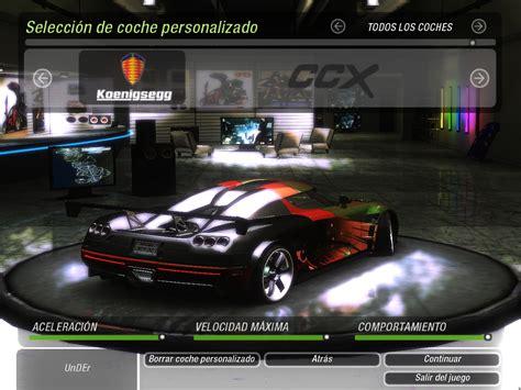 download mod game underground 2 need for speed underground 2 koenigsegg ccx nfscars