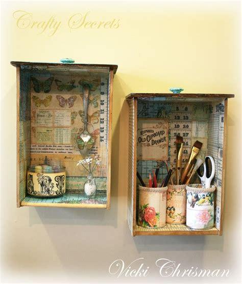 Vintage Paper Craft - riciclare cassetti vecchio comodino 20 idee creative