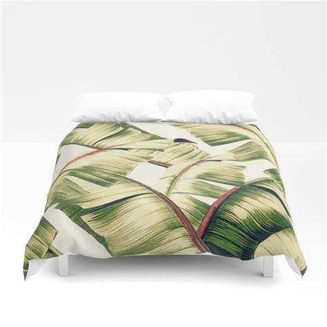 leaf pattern duvet banana leaf pattern duvet cover by kamina22 society6