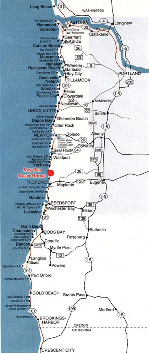 map of yachats oregon coast key sea koast house map