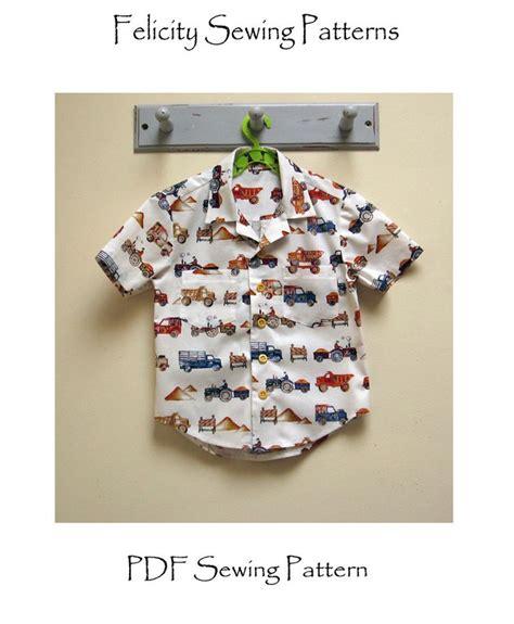 sewing pattern aloha shirt boy s hawaiian shirt sewing pattern for kids 2 14 years