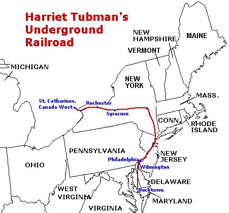 underground railroad map the civil war of the united states may 2014