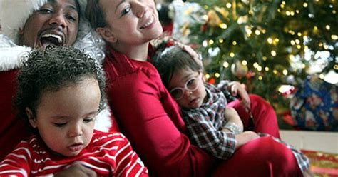 mariah carey nick cannon share adorable christmas pictures  twins  weekly