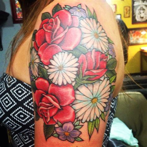 wildflower tattoo by shaun bushnell yelp