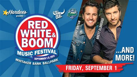 luke bryan line up final lineup for red white and boom 2017 includes luke