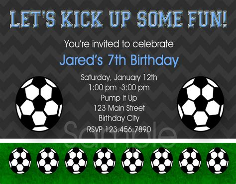printable soccer invitation templates 8 best images of soccer birthday printable party