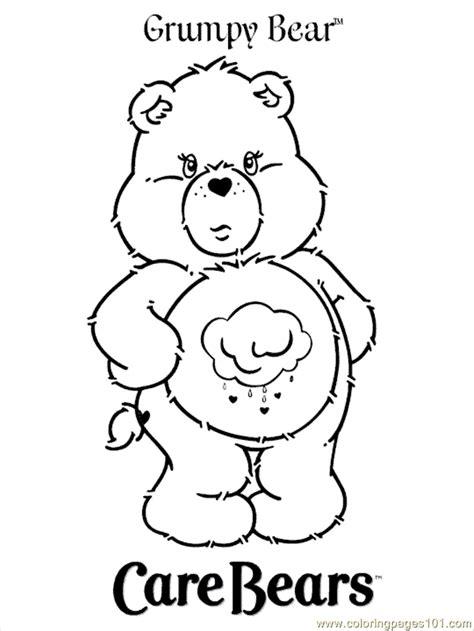 grumpy bear coloring pages az coloring pages