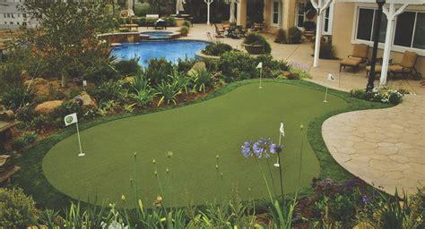 residential putting greens custom backyard putting
