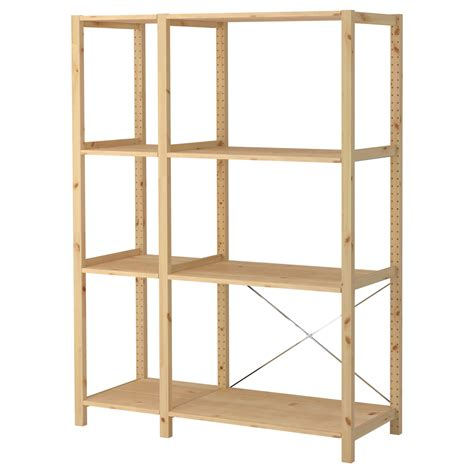 pine shelving units ivar 2 sections shelves pine 134x50x179 cm ikea