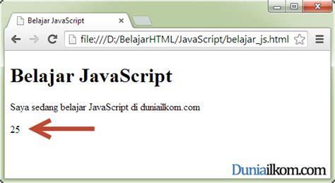 tutorial membuat script imacros belajar javascript cara menilkan hasil program