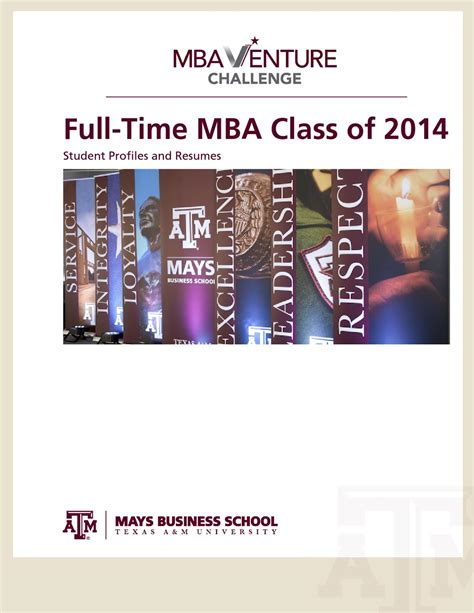Mays Mba Class Profile by Mba Venture Challenge 2013 By Mays Business School Issuu