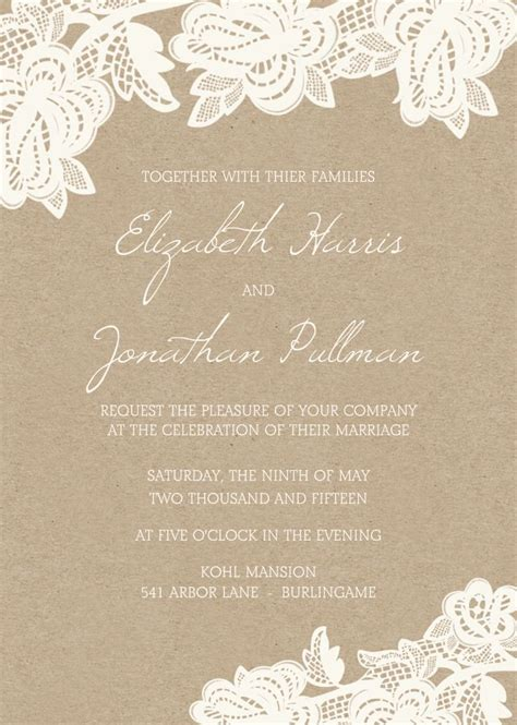 25 best ideas about lace wedding invitations on wedding invatations wedding
