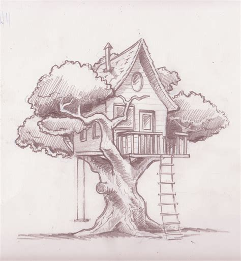 doodle draw tree amazing but simple drawings house drawing