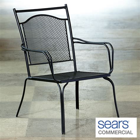 commercial patio chairs woodard commercial grade stack square back mesh patio