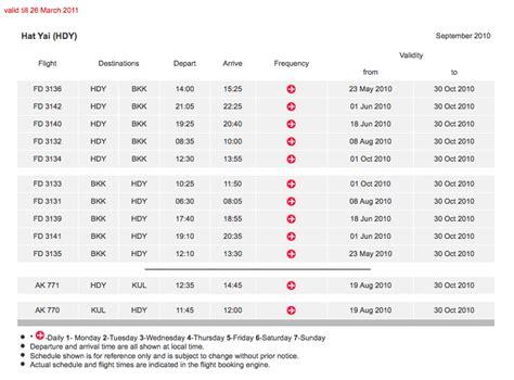 airasia schedule airasia resumes flights to hat yai from kuala lumpur on 19