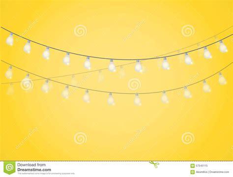 light bulbs on a string string of lights hanging light bulbs stock illustration