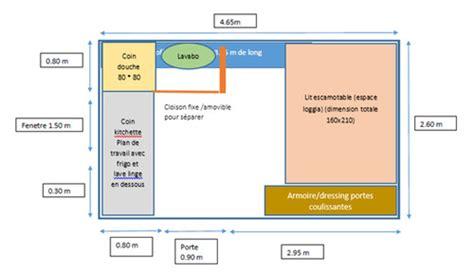 Plan Studio 12m2 by Chambre De Bonne Deviendra Studio Fonctionnel 12m2