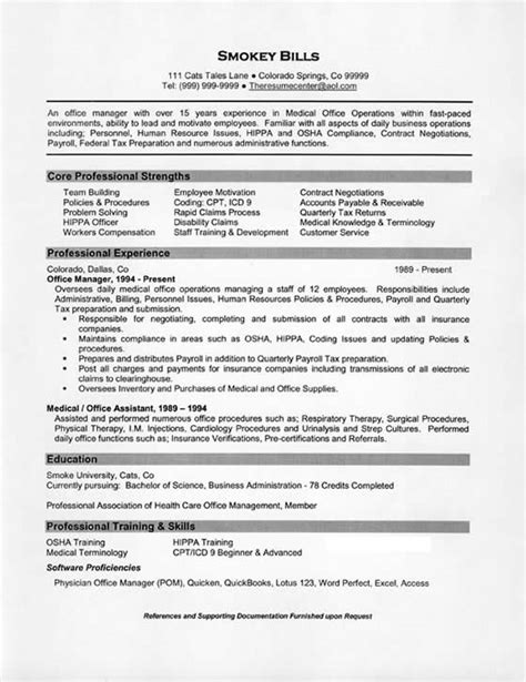 office manager resume exle resume exles