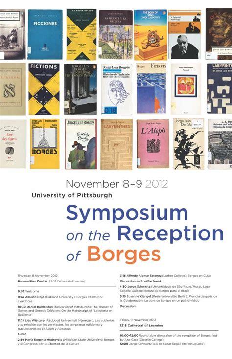 the symposium the chronicles of 2012 borges center