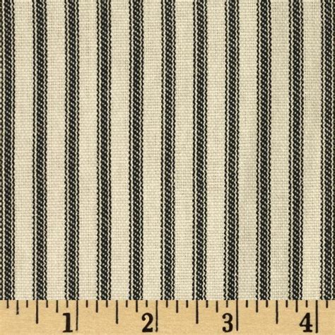 French Country Shower Curtain Vertical Ticking Stripe Black Ivory Discount Designer