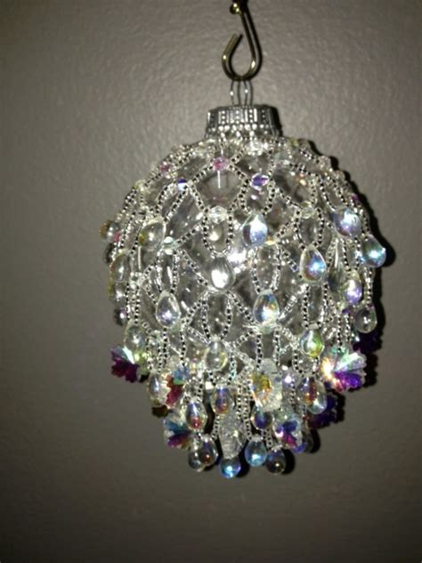 snowflake beaded ornament cover beaded christmas