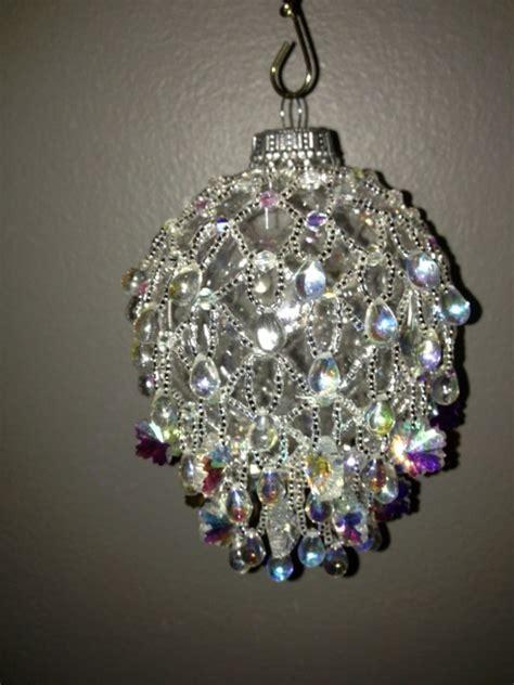 snowflake beaded ornament cover beaded christmas