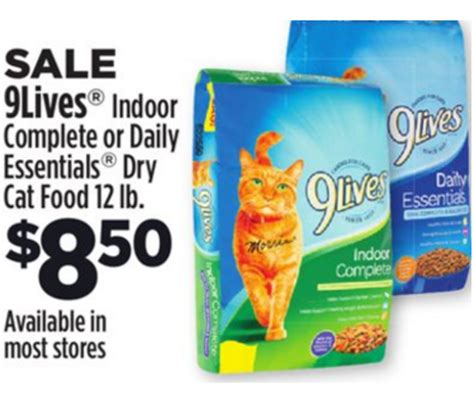 printable 9 lives cat food coupons dollar general 11 8 11 14 9lives dry cat food 12 lbs