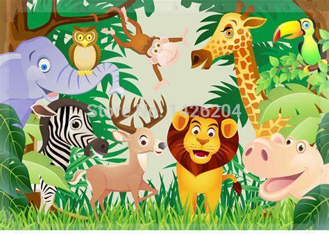 wallpaper untuk anak tomboy tembok besar pesta hewan 3d wallpaper gulungan anak anak