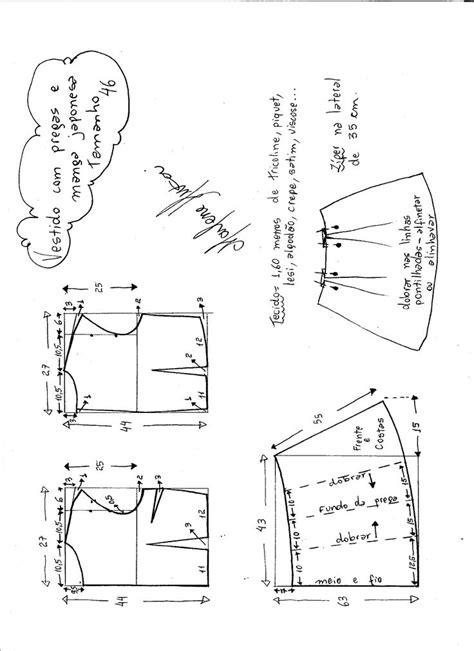 esquema de vestido esquema de modelagem de vestido com manga japonesa e prega