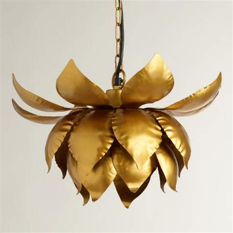 Lotus Pendant Light Gold Lotus Hanging Pendant L World Market