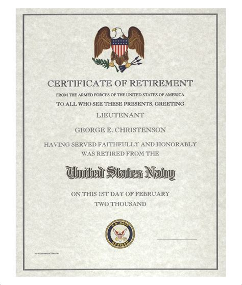 templates for retirement certificate 10 retirement certificate templates free pdf format