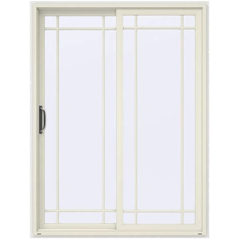 60 Sliding Patio Door by Jeld Wen 60 In X 80 In V 4500 Vanilla Prehung