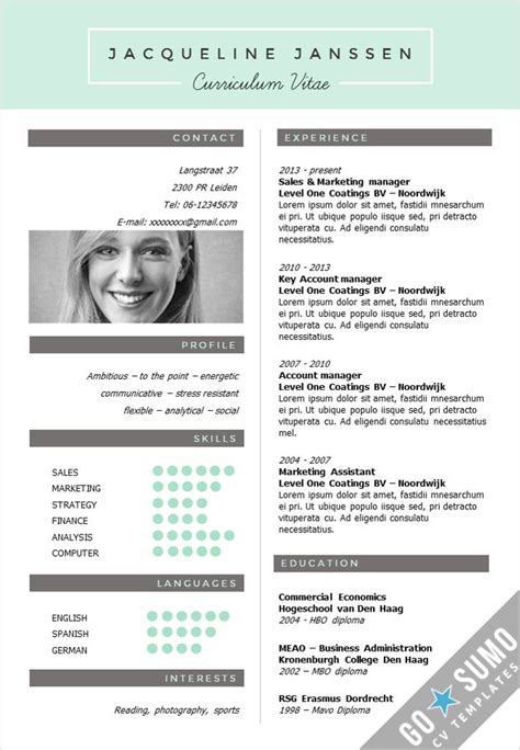 Template Gratuit Cv by 25 Best Ideas About Cv Template On Creative