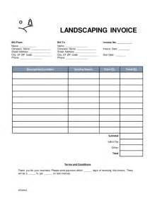 lawn care invoice template word free landscaping invoice template word pdf eforms
