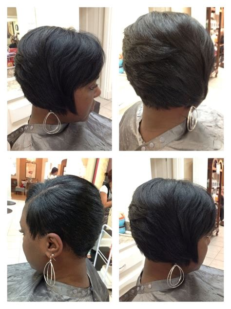 african american razor cut bob portfolio stylist225com of baton rouge salon hair stylist