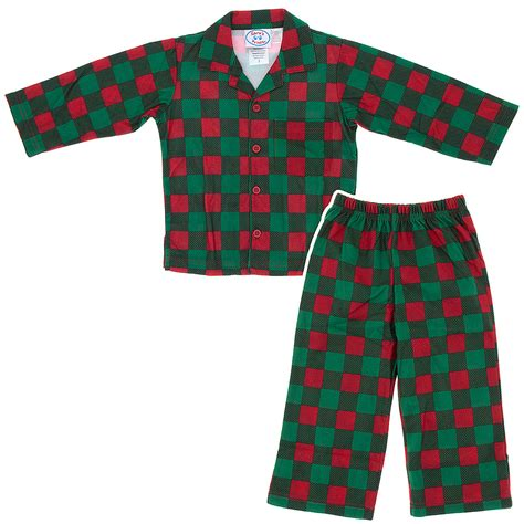 sara s prints red checked christmas pajamas for boys