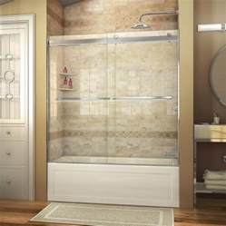 lowes bathtub doors shop dreamline essence 60 in w x 60 in h frameless bathtub